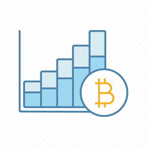 Ysis Bitcoin Cryptocurrency Growth Chart Increase Rate Statistics Icon