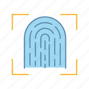 app, biometric, fingerprint, identification, scan, scanning, touch id icon