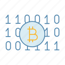 bitcoin, coding, cryptocurrency, mining, ninary code, number, numerical icon