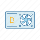 bitcoin, crypto, cryptocurrency, gpu, mining, mining farm, video card icon
