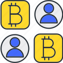 bitcoin, payment, status icon