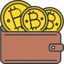 bitcoin, cash, cryptocurrency, wallet icon