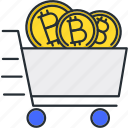 bitcoin, car, cryptocurrency, service icon