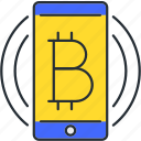 bitcoin, blockchain, cryptocurrency, transfer icon