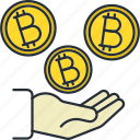 bitcoin, blockchain, cryptocurrency, savings icon