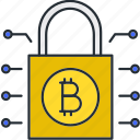 bitcoin, protection, safety, security icon