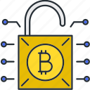 bitcoin, protection, secure, security icon