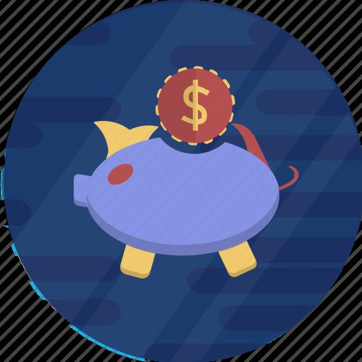 cash, cryptocurrency, dollar, finance, pig, pig bank, piggy bank icon