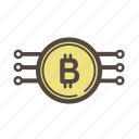 bitcoin, block, chain, coin, crypto, currency, finance