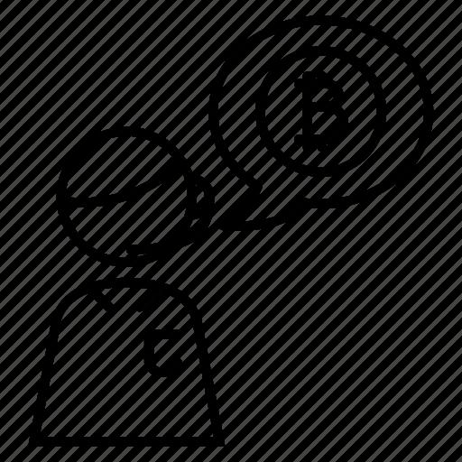 bitcoin, customer service, help, support icon