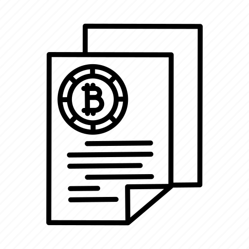 bitcoin, cryptocurrency, document, files icon