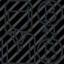 advisor, bitcoin, female icon