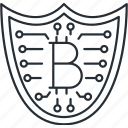 bitcoin, safety, security, shield icon