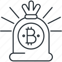 bag, bitcoin, cryptocurrency