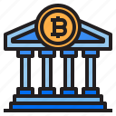 bank, bitcoin, blockchain, coin, cryptocurrency, finance, money icon