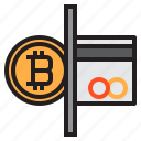 bitcoin, blockchain, cash, coin, cryptocurrency, finance, money icon