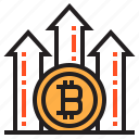 bitcoin, blockchain, coin, cryptocurrency, finance, money, up