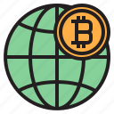 bitcoin, blockchain, coin, cryptocurrency, finance, gobal, money icon