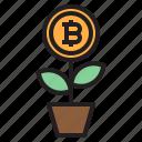 bitcoin, blockchain, coin, cryptocurrency, finance, grow, money