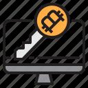 bitcoin, blockchain, coin, cryptocurrency, finance, key, money