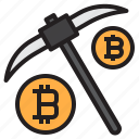 bitcoin, blockchain, coin, cryptocurrency, finance, mining, money icon
