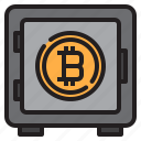 bitcoin, blockchain, coin, cryptocurrency, finance, money, safe icon