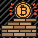 bitcoin, blockchain, coin, cryptocurrency, finance, money, wall