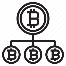 bitcoin, blockchain, coin, cryptocurrency, diagram, finance, money icon
