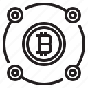 bitcoin, blockchain, coin, cryptocurrency, diagram, finance, money icon