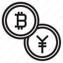 bitcoin, blockchain, coin, cryptocurrency, exchange, finance, money icon