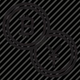 bitcoin, blockchain, coin, cryptocurrency, exchange, finance, money icon