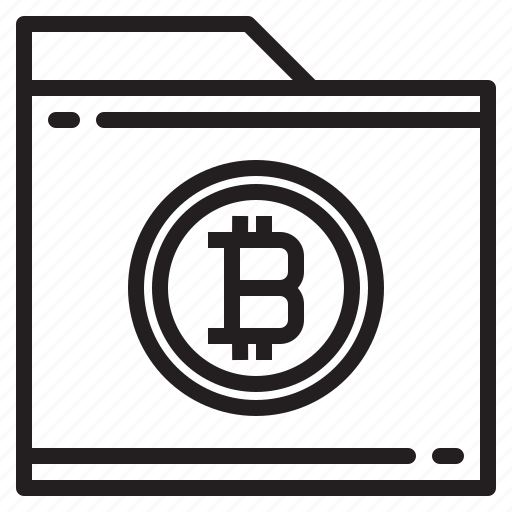 bitcoin, blockchain, coin, cryptocurrency, finance, folder, money icon
