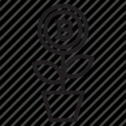 bitcoin, blockchain, coin, cryptocurrency, finance, grow, money icon