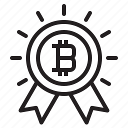 bitcoin, blockchain, coin, cryptocurrency, finance, money, prize icon