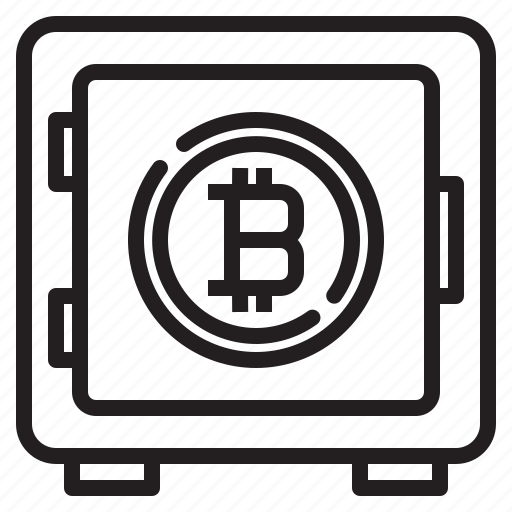 bitcoin, blockchain, coin, cryptocurrency, finance, money, safe icon