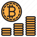 bitcoin, blockchain, coin, cryptocurrency, graph, money icon