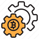 bitcoin, blockchain, coin, config, cryptocurrency, finance, money icon