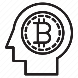 bitcoin, blockchain, brain, coin, cryptocurrency, finance, money icon