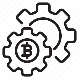 bitcoin, blockchain, coin, config, cryptocurrency, finance, money icon