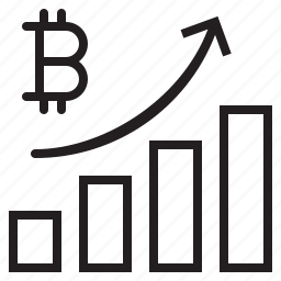 bitcoin, blockchain, coin, cryptocurrency, finance, graph, up icon