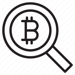 bitcoin, blockchain, coin, cryptocurrency, finance, money, search icon