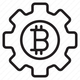 bitcoin, blockchain, coin, cryptocurrency, finance, money, setting icon