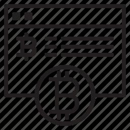 bitcoin, blockchain, coin, cryptocurrency, finance, money, web icon
