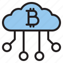 bitcoin, blockchain, cloud, coin, cryptocurrency, finance, money icon