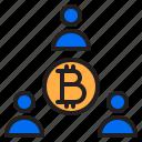 bitcoin, blockchain, coin, cryptocurrency, diagram, finance, money