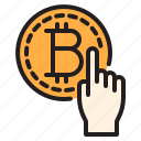bitcoin, blockchain, coin, cryptocurrency, finance, money, select icon