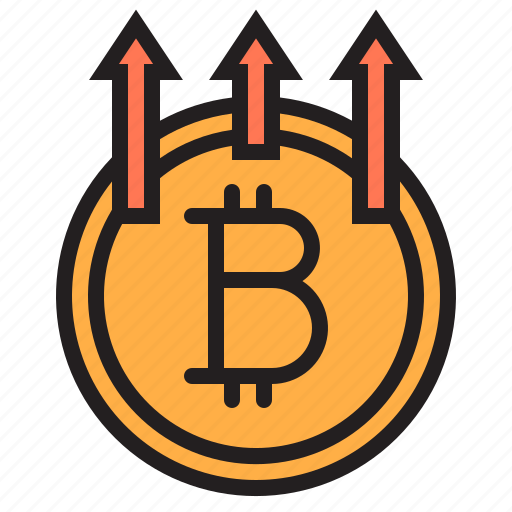 bitcoin, blockchain, coin, cryptocurrency, finance, money, up icon