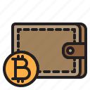 bitcoin, blockchain, coin, cryptocurrency, finance, money, wallet icon