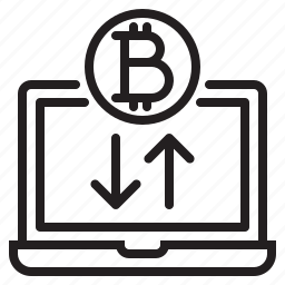 bitcoin, blockchain, coin, computer, cryptocurrency, finance, money icon