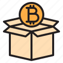 bitcoin, blockchain, box, coin, cryptocurrency, finance, money icon